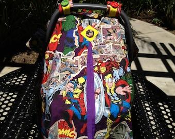 Marvel Super-Hero Baby Carseat Canopy