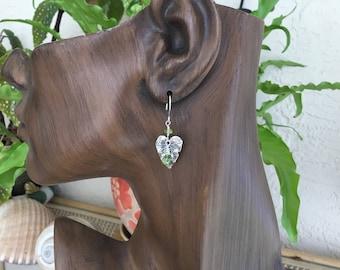 Sterling Silver Leaf Gemstone Earrings