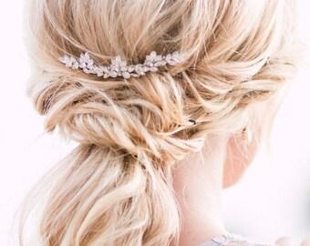 Pachelbel- bridal comb- wedding hairpiece- wedding headpiece- bridal headpiece- crystal headpiece- swarovski comb- swarovski headpiece