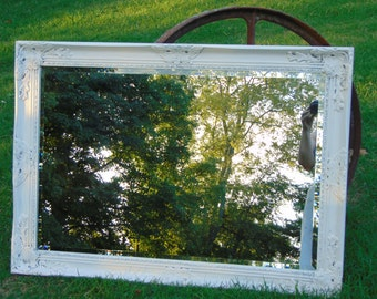 SHABBY Chic Mirror, Baroque Large Mirror, Farmhouse Mirror,Nursery Mirror, Choose Custom Color