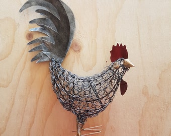 Large wire  chicken head turned