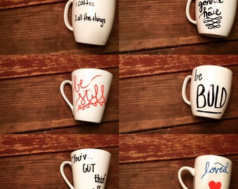 Customizable personalized coffee cups
