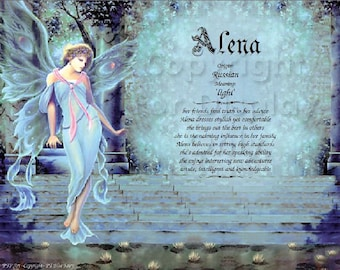 Fairy Name Meaning Print