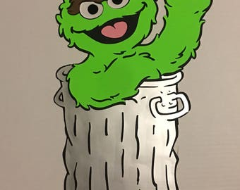 20 inches tall oscar the grouch from sesame street birthday decoration