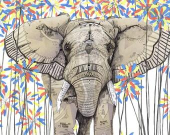 Elephant // Signed A3 print