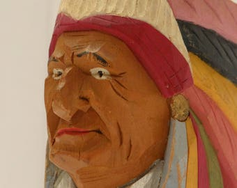 native - crafts - folk art sculpture - folk art - Pat - vintage - collectible - rawdon.