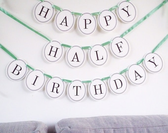 Happy half birthday Etsy
