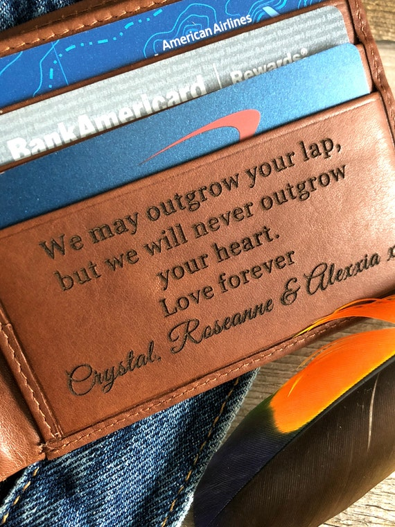 Personalized Wallet with RFID Lining with Quotation - for Dad