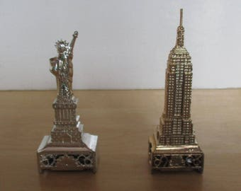 Vintage Miniatures - Souvenir Pencil Sharpeners, Statue of Liberty, The Empire State Building, New York, Made in Japan