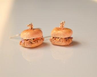 Barbecue Sandwich Earrings, Food Earrings, Barbecue Earrings, Summer Food Earrings, Polymer Clay Earrings, Food Jewelry, BBQ Earrings