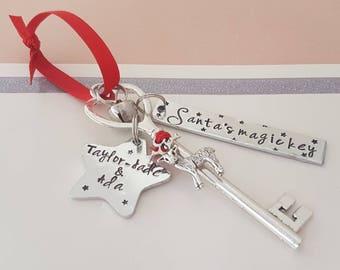 Santa's magic key - santa key - personalised santa key - christmas eve gift - magic key - christmas decoration - christmas gift - keepsake