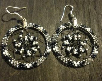 Authentic Native Beaded Dream Catcher Earrings