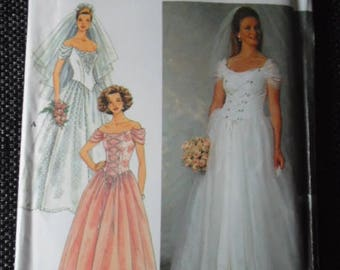 Sewing pattern Simplicity 7469 Misses' wedding dress new uncut size 12 to 16