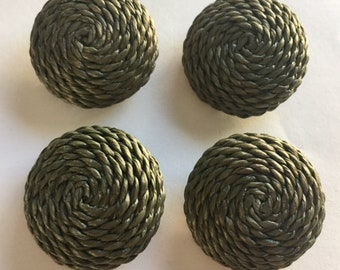 Coiled Rope Buttons - 4 Buttons
