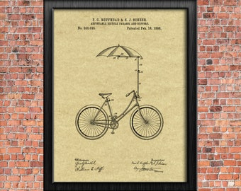 Bicycle drawing etsy bicycle parasol 1896 original patent print blueprint drawing 1800s vintage wall art poster cycling gift printable malvernweather Image collections