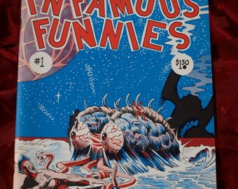 Infamous Funnies #1 Fantasy House 1973 Momberger Pound Ellison Marchesano Ripp Judas adult underground fanzine comix comic