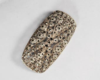 Art Deco Marcasite Brooch: German Sterling Openwork Design
