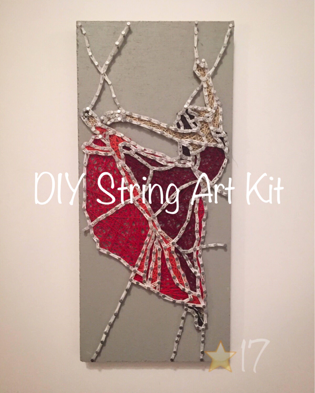 DIY Tänzerin String Art Kit wie Glasmalerei Wirkung Faden