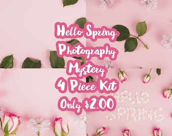 Hello Spring Mystery 4 Piece Mini Planner Sticker Kit sized for the Erin Condren Planner & Many other planners