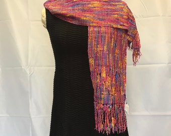 Orchid Shindig Handwoven Scarf