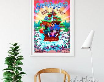 Disneyland Poster, Vintage Splash Mountain Disney World Attraction Poster, Nursery Art Print, Kids Playroom, Home Decor, Wall Art Not Framed