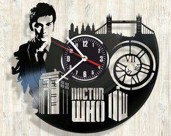 DOCTOR WHO vinyl record wall clock best eco-friendly gift for any occasion
