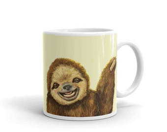 Happy Sloth Ceramic Mug