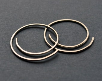 Half-Spiral Earrings. Modern Contemporary Simple Sleek Elegant Design. Sterling Silver Jewelry.