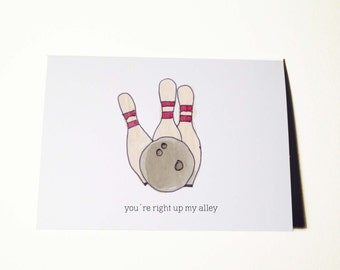 Right Up My Alley Card