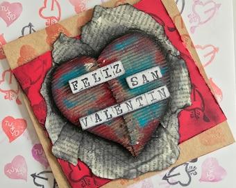 San Valentine's day card - Mixed media