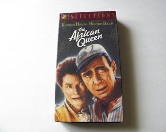 African Queen VHS Video Tape Hepburn Bogart Pre-owned