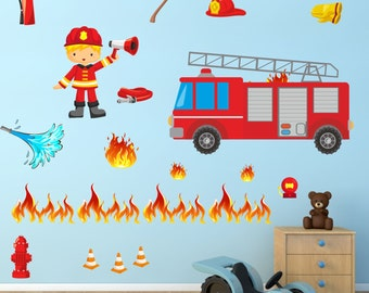 007 Wall Decals Delete Fire hose * Nikima * in 6 verse. Sizes