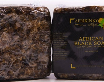 BLACK SOAP  Premuim Fair Trade Organic  Bulk 1LB