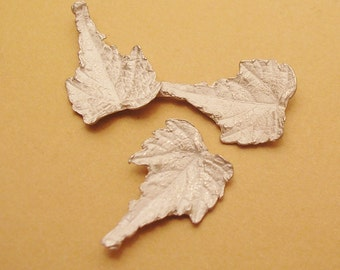 grape leaves metalsmith supplies sterling silver leaves raw casting UL014-3