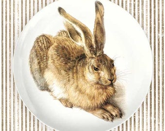 Rabbit Painting plate