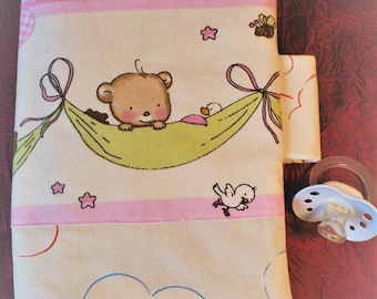 Diaper bag with bear