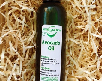 Avocado Carrier Oil/100% Organic/Massage Oil/Skin Care/Hair Care/Hydrating