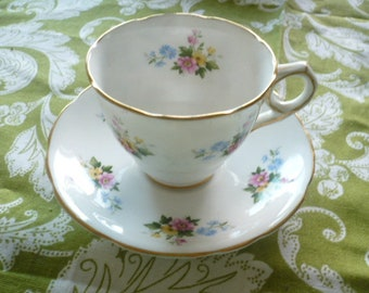 Vintage Royal Stafford Tea Cup and Saucer, Bone China, Made in England, No Chips or Cracks, Tea Time, Victorian Tea, English Tea Sets