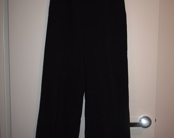 90's Black Wide Leg Pants