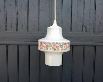 Milk glass ceiling light, pendant light, lampshade, 1970s