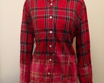 dip dyed flannel, ombre shirt, bleached flannel, distressed shirt, red hot, wow