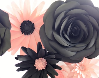 PAPER FLOWERS Backdrop Set