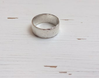 925 Silver Hammered Ring