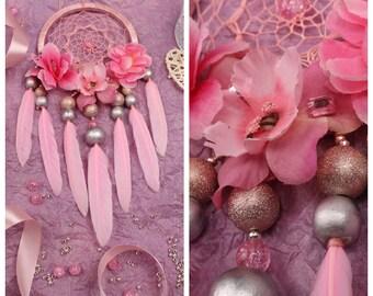 Dreamcatcher pink Dream Catcher pink small Dreamcatcher baby Dream сatcher gift dreamcatchers boho dreamcatcher wall handmade gift valentine