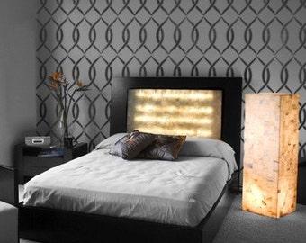 Stencil pattern Entwined - Reusable stencils just like wallpaper - DIY decor