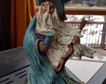 "10"" Wise Wizard Statue"