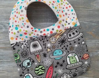NEW: Infant Drool Bib- Space