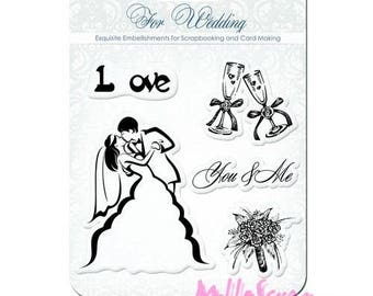 """Clear stamps """"For wedding scrapbooking embellishment 2"""". *"""