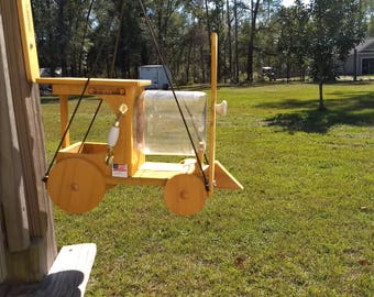 Train hanging bird feeder