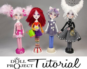 Clothes Pin Art Doll Tutorial - Make your Own Miniature Dolls Complete How to Guide